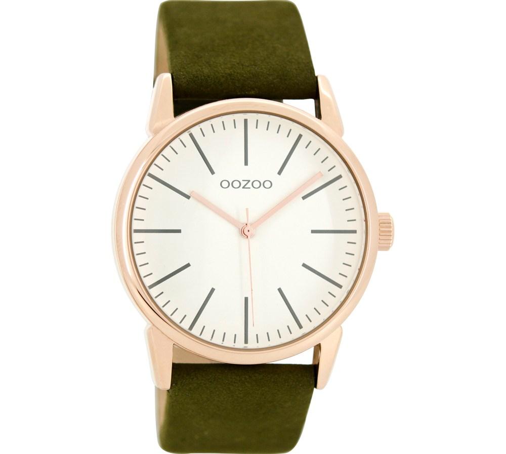 OOZOO - Γυναικείο δερμάτινο ρολόι OOZOO TIMEPIECES πράσινο