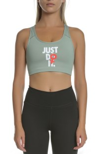 NIKE - Αθλητικό μπουστάκι μέτριας στήριξης JDI Nike Rebel Swoosh πράσινο