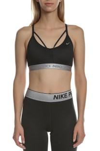 NIKE - Γυναικείο αθλητικό μπουστάκι Nike Indy Aeroadapt μαύρο-ασημί