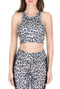 NIKE - Γυναικείο μπουστάκι NIKE EVERYTHING LPRD λευκό-μαύρο
