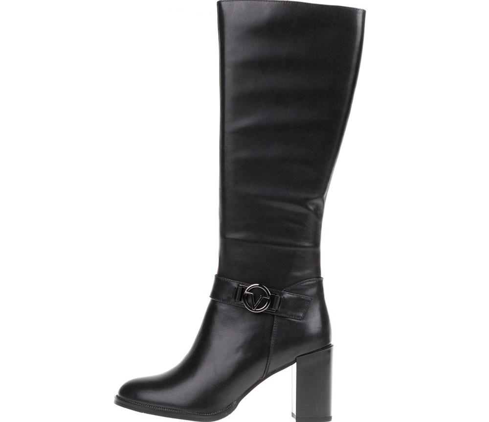 19V69 VERSACE 19.69 - Γυναικείες δερμάτινες μπότες 19V69 VERSACE 19.69 μαύρες
