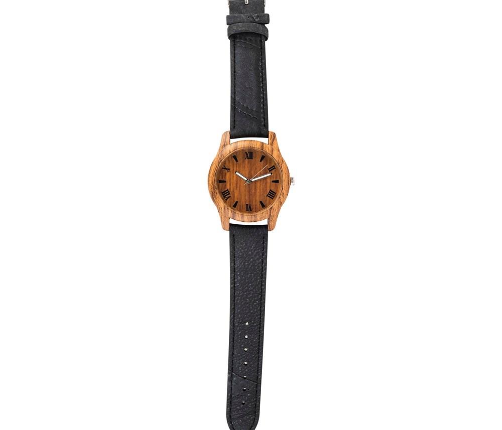 MOOD MAKERS - Ανδρικό ξύλινο ρολόι MOOD MAKERS μαύρο
