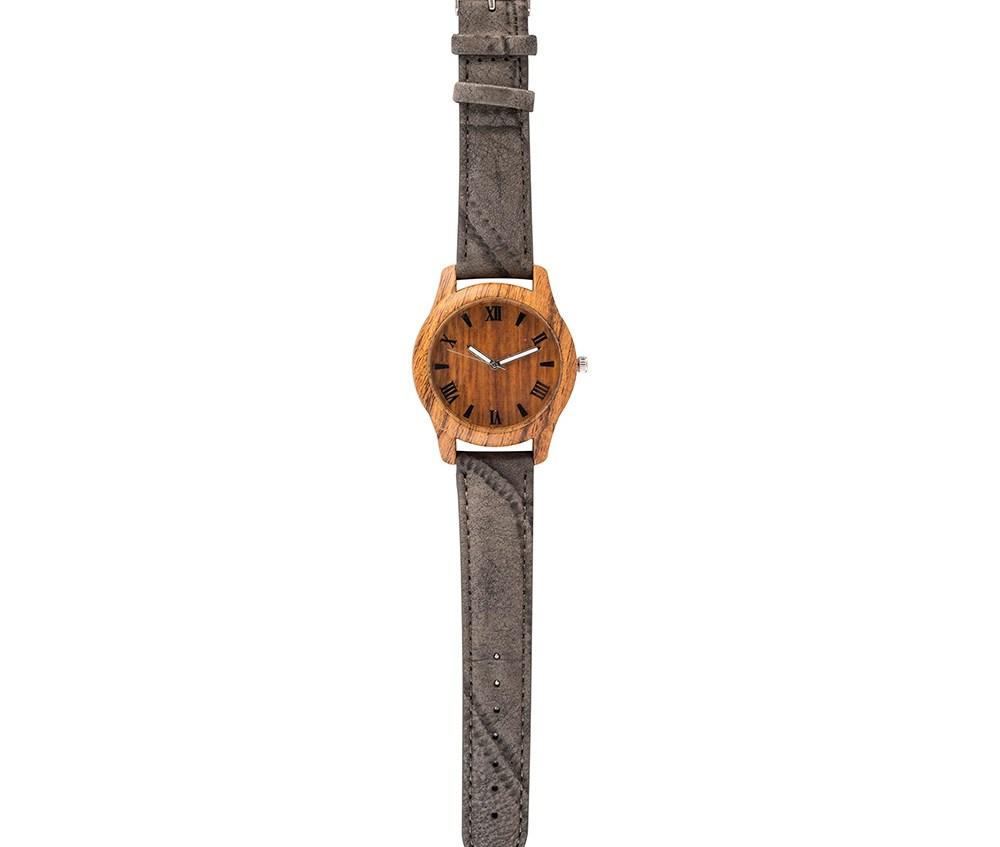 MOOD MAKERS - Ανδρικό ξύλινο ρολόι MOOD MAKERS γκρι