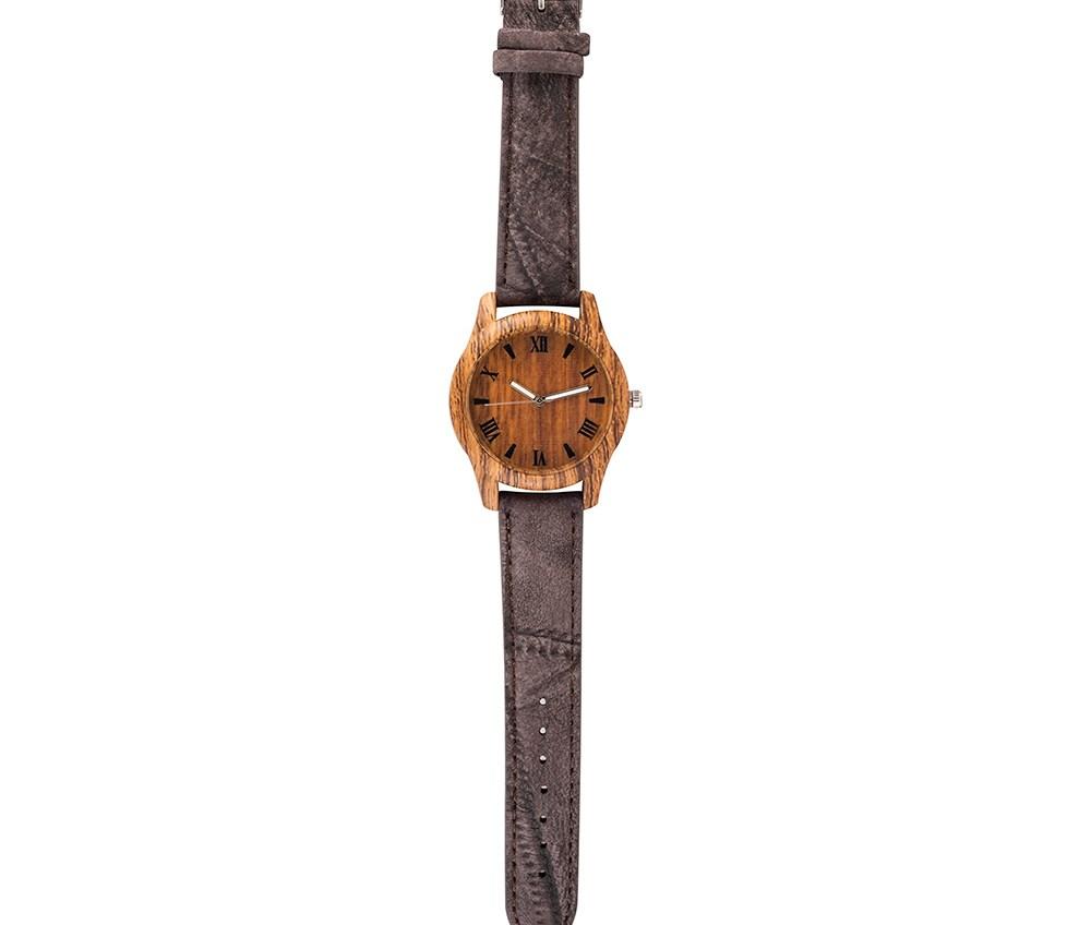 MOOD MAKERS - Ανδρικό ξύλινο ρολόι MOOD MAKERS καφέ