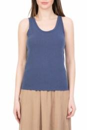 AMERICAN VINTAGE - Γυναικεία αμάνικη μπλούζα AMERICAN VINTAGE μπλε