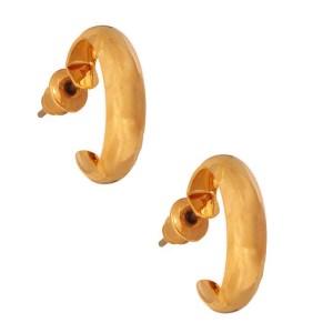 JEWELTUDE - Γυναικεία επίχρυσα σκουλαρίκια Κρίκοι Jeweltude