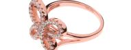 FOLLI FOLLIE - Γυναικείο δαχτυλίδι με πεταλούδα FOLLI FOLLIE ροζ-χρυσό