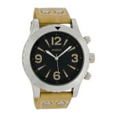 OOZOO - Unisex δερμάτινο ρολόι OOZOO TIMEPIECES μπεζ image