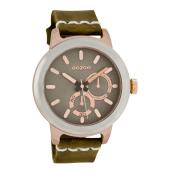 OOZOO - Unisex δερμάτινο ρολόι OOZOO TIMEPIECE καφέ image