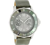 OOZOO - Unisex δερμάτινο ρολόι OOZOO TIMEPIECES γκρι