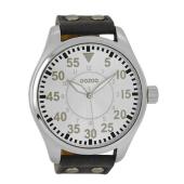 OOZOO - Unisex δερμάτινο ρολόι OOZOO TIMEPIECES γκρι σκούρο image