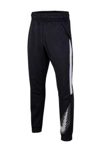 NIKE - Παιδικό παντελόνι φόρμας NIKE THERMA GFX TAPR PANT μαύρο