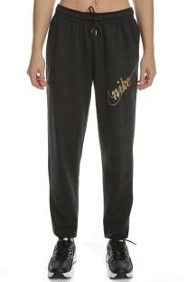 NIKE - Γυναικείο παντελόνι φόρμας NIKE NSW PANT FLC GLITTER μαύρο