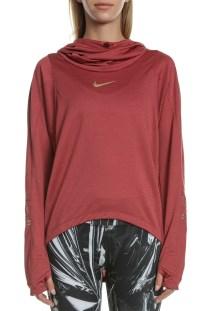 NIKE - Γυναικεία μπλούζα NIKE TOP LS GLAM MIDLAYER μπορντό