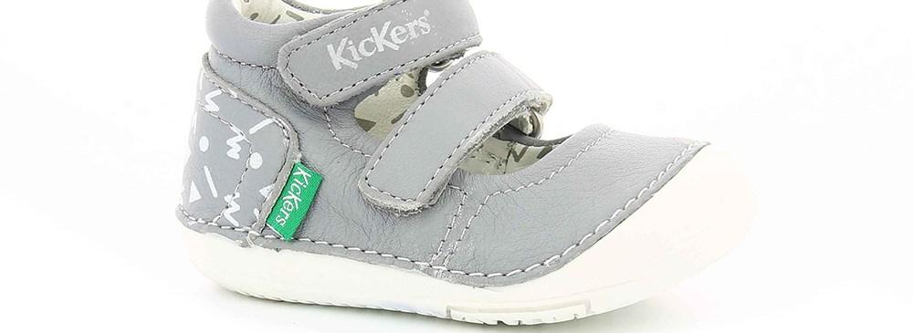KICKERS - Βρεφικά παπούτσια SOLA KICKERS γκρι