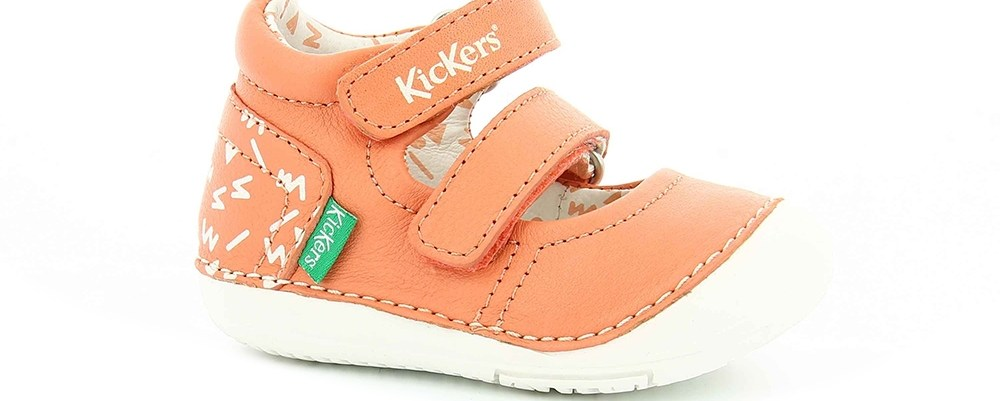 KICKERS - Βρεφικά παπούτσια SOLA KICKERS πορτοκαλί