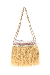 ELLIOT MANN - Γυναικεία τσάντα ώμου ELLIOT MANN μπεζ
