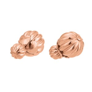 FOLLI FOLLIE - Γυναικεία καρφωτά σκουλαρίκια FOLLI FOLLIE Style Fairy ροζ-χρυσά
