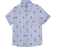 SAM 0-13 - Παιδικό κοντομάνικο πουκάμισο για μεγάλα αγόρια SAM 0-13 γαλάζιο