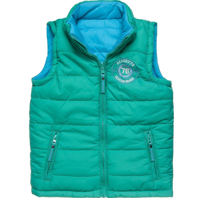 alouette - Παιδικό αμάνικο μπουφάν διπλής όψεως alouette πράσινο-μπλε