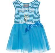alouette - Βρεφικό αμάνικο φόρεμα με τούλι alouette μπλε