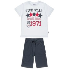 FIVE STAR - Παιδικό σετ για αγόρια FIVE STAR λευκό-μπλε