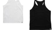BODYTALK - Σετ από δύο ανδρικές αμάνικες μπλούζες BODYTALK λευκό-μαύρο