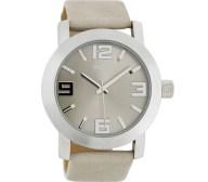 OOZOO - Unisex δερμάτινο ρολόι OOZOO TIMEPIECE μπεζ