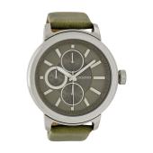 OOZOO - Unisex δερμάτινο ρολόι OOZOO TIMEPIECES χακί image