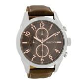 OOZOO - Unisex δερμάτινο ρολόι OOZOO TIMEPIECES καφέ image