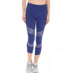 UNDER ARMOUR - Γυναικείο αθλητικό κολάν UNDER ARMOUR BREATHELUX METALLIC CROP μπλε