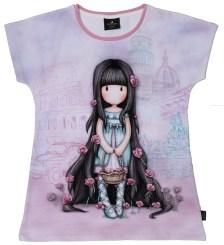 SANTORO Gorjuss - Παιδική κοντομάνικη μπλούζα SANTORO Gorjuss μοβ