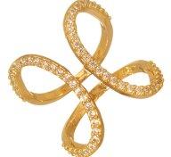 JEWELTUDE - Γυναικείο επίχρυσο δαχτυλίδι Ημικύκλια