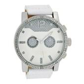 OOZOO - Unisex δερμάτινο ρολόι OOZOO TIMEPIECES λευκό image