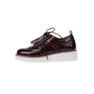 PEPE JEANS - Γυναικεία παπούτσια oxford RAMSY TASSEL καφέ