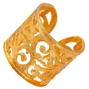 JEWELTUDE - Γυναικείο επίχρυσο ορειχάλκινο δαχτυλίδι Δαντέλα