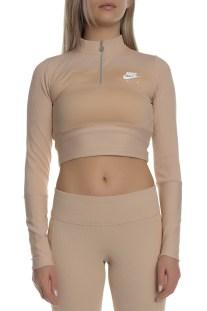 NIKE - Γυναικεία μακρυμάνικη μπλούζα NIKE AIR μπεζ