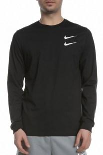 NIKE - Ανδρικό μακρυμάνικο T-Shirt Nike Sportswear Swoosh μαύρο