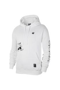 NIKE - Ανδρική φούτερ μπλούζα NIKE BB FLC PO λευκή
