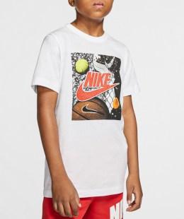NIKE - Παιδικό t-shirt NIKE PLAYGROUND FUTURA λευκό