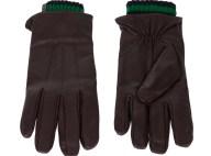 SCOTCH & SODA - Ανδρικά δερμάτινα γάντια SCOTCH & SODA καφέ πράσινα