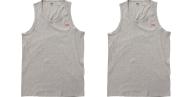 LEVI'S - Σετ από δύο ανδρικές αμάνικες μπλούζες LEVI'S γκρι