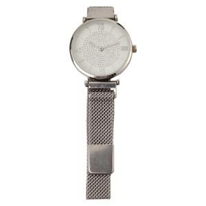 MOOD MAKERS - Γυναικείο μαγνητικό ρολόι MOOD MAKERS ασημί
