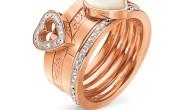 FOLLI FOLLIE - Ατσάλινο σετ από 3 δαχτυλίδια FOLLI FOLLIE ροζ χρυσό