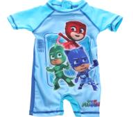 PJ MASKS - Παιδικό ολόσωμομο μαγίο σορτς PJ MASKS μπλε