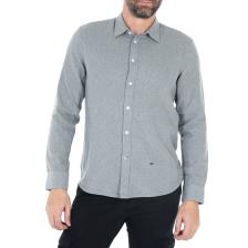 PEPE JEANS - Ανδρικό μακρυμάνικο πουκάμισο PEPE JEANS EDGAR γκρί