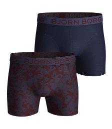 BJORN BORG - Ανδρικά εσώρουχα boxer σετ των 2 BJORN BORG μπλε - μπορντό