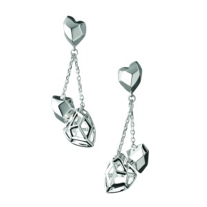 LINKS OF LONDON - Ασημένια σκουλαρίκια F&W Dbl Heart Stilett