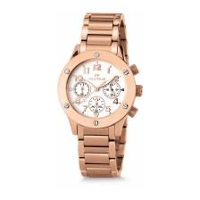 FOLLI FOLLIE - Γυναικείο ρολόι χρονογράφος Folli Follie με μπρασελέ ροζ-χρυσό