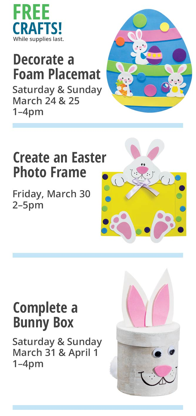 Easter event free crafts